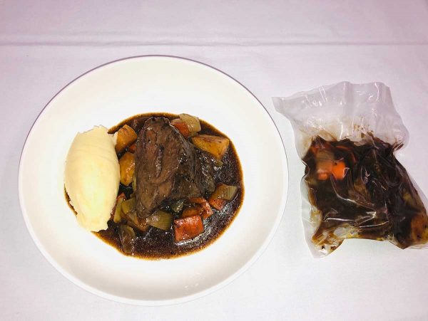 Braised Beef Cheek with Butter Mash