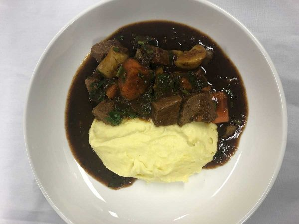Venison and Kangaroo Ragout with Butter Mash